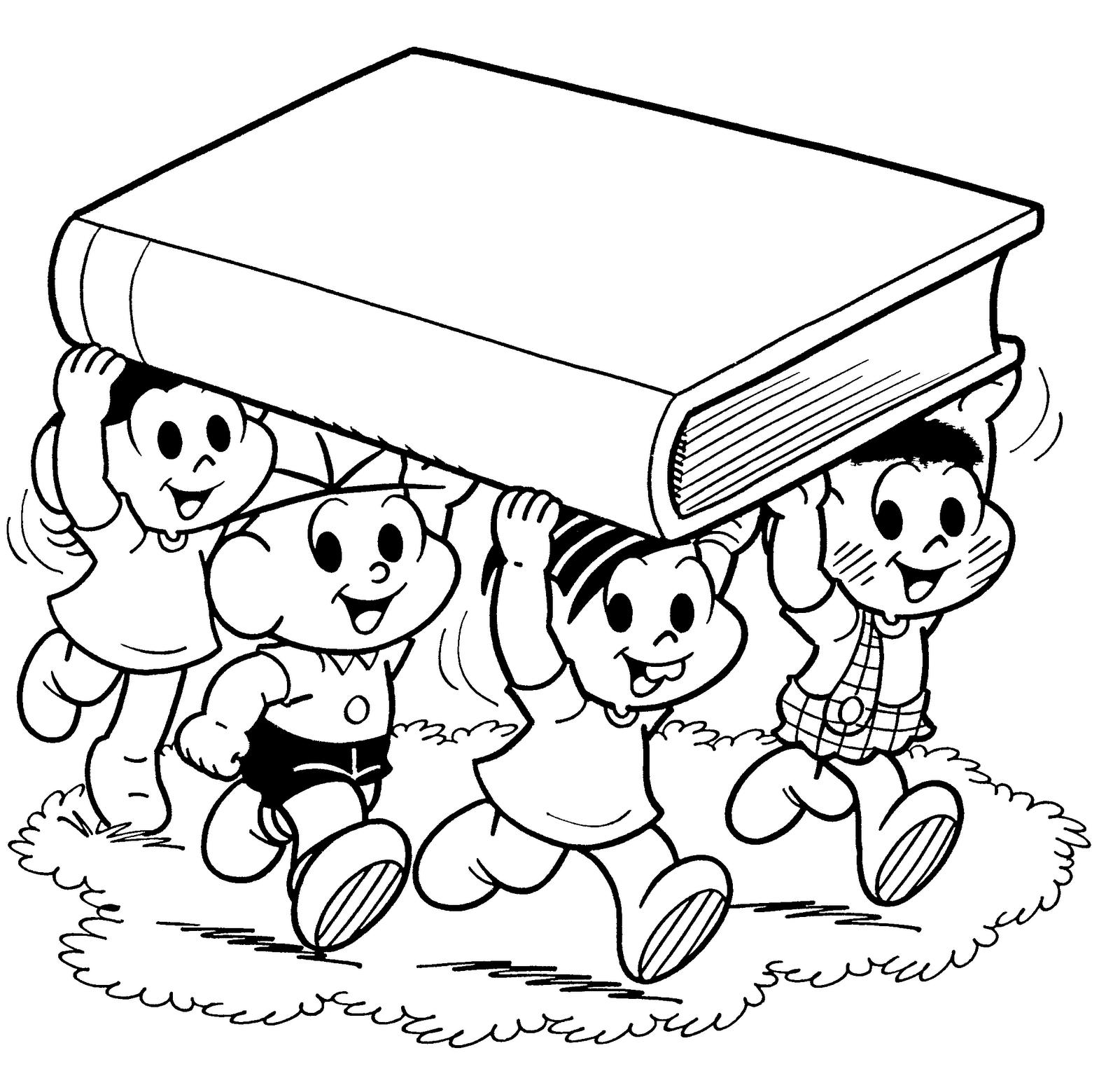 Desenhos da turma da m nica para colorir e imprimir toda - Toddler libro da colorare ...