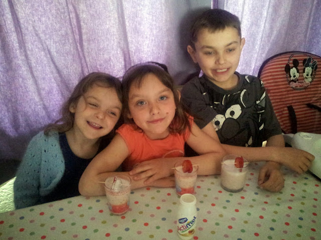 Actimel Fruit Smoothies Mango Passionfruit Healthy Kids Drink Cooking Recipe