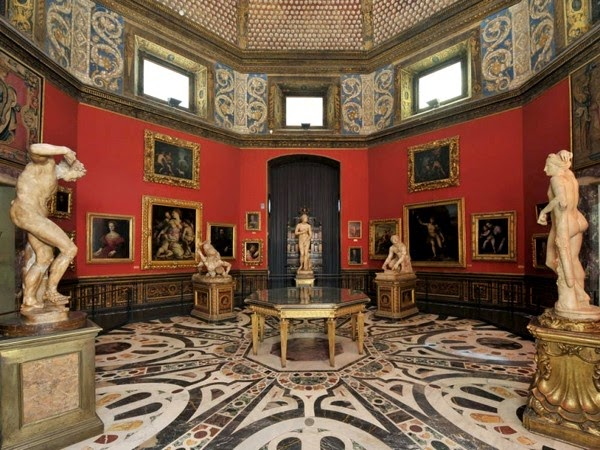 Uffizi Galleriet i Firenze, Italien