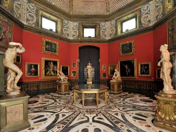 Uffizi Galleriet i Firenze, Italien