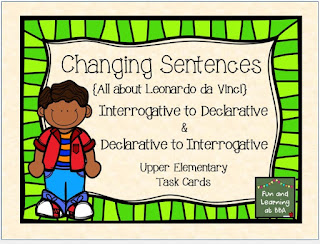 Changing Sentence Types Task Cards