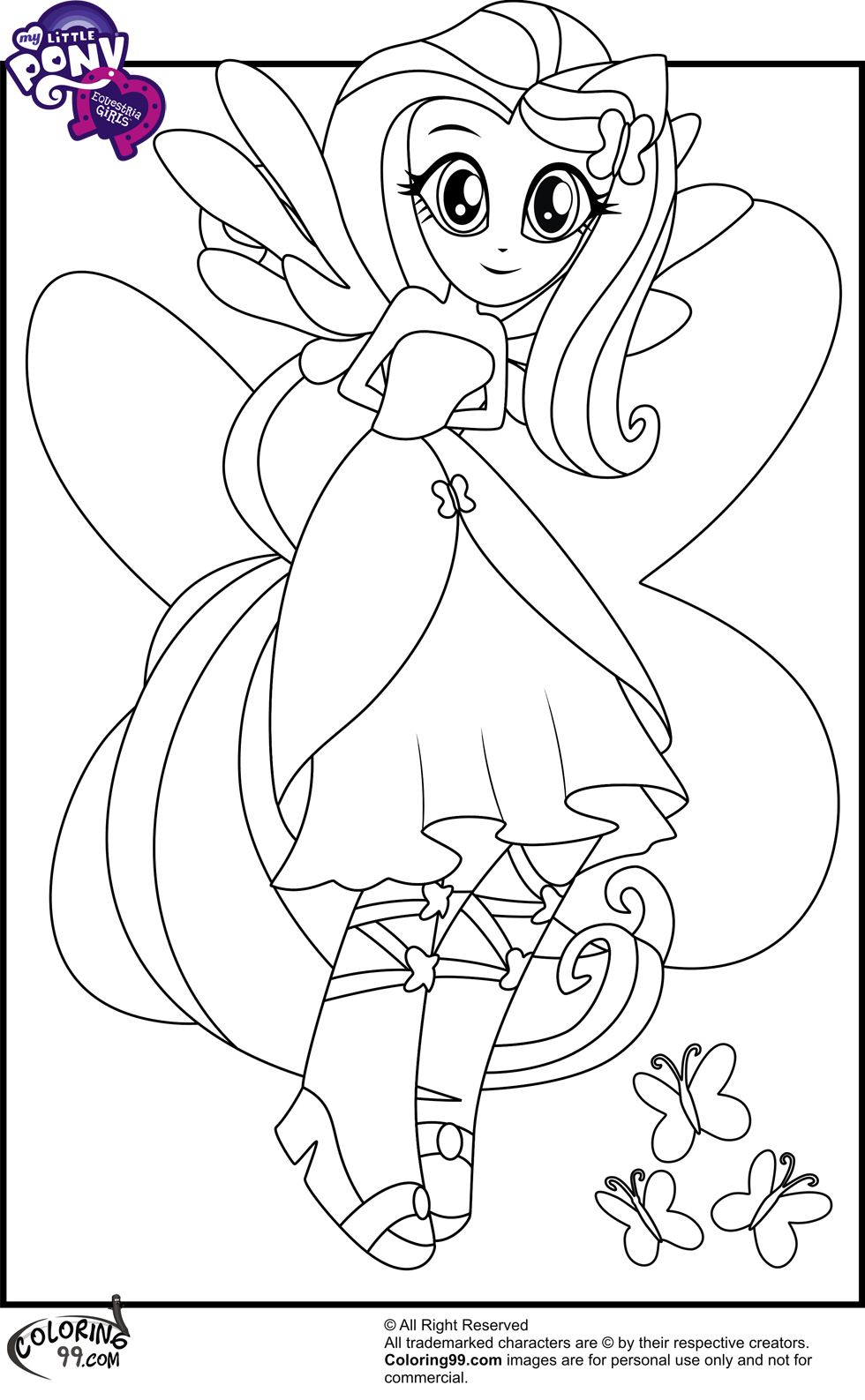 Coloring Pages Of My Little Pony Equestria : My little pony equestria girls coloring pages team colors