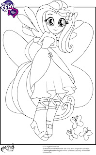 mlp fluttershy equestria girls coloring pages
