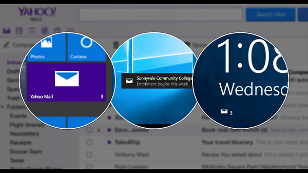 Yahoo mail app for Windows 10
