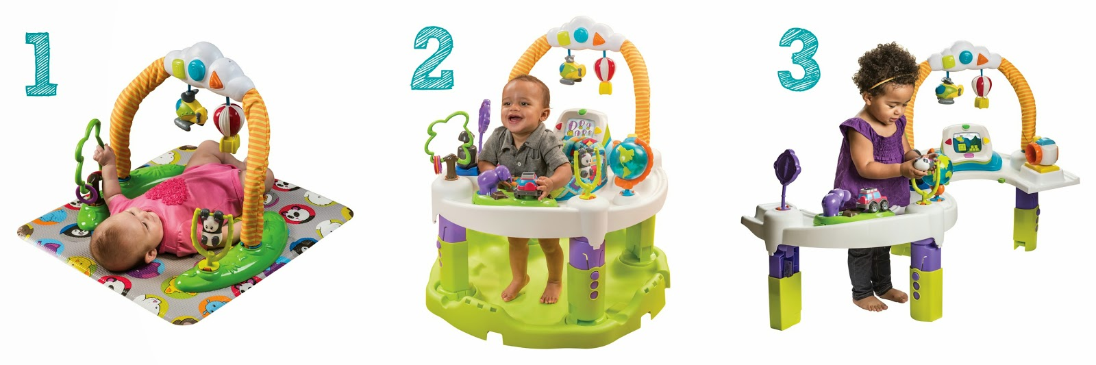The Chirping Moms The New Evenflo World Explorer Exersaucer
