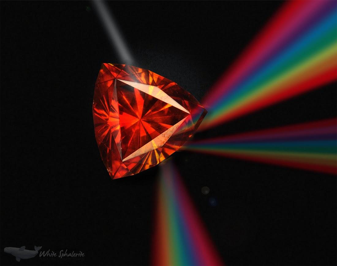 La dispersión de la esfalerita es tres veces mayor que la del diamante