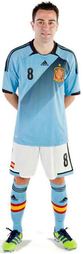 equipación azul selección española Eurocopa 2012