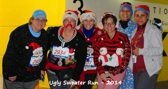 group of participants at the Ugly Sweater Run in DC