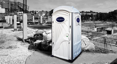 "The ""A White Toilet"" portable toilet"