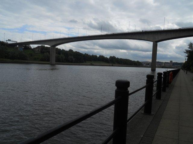 When I started walking on the Quayside from my office in the Newcastle Business Park to the Millenium Bridge, this was the first bridge I came across. A very tall, concrete structure, mostly unspectacular except for some graffiti at a place that didn't seem possible for humans to reach.