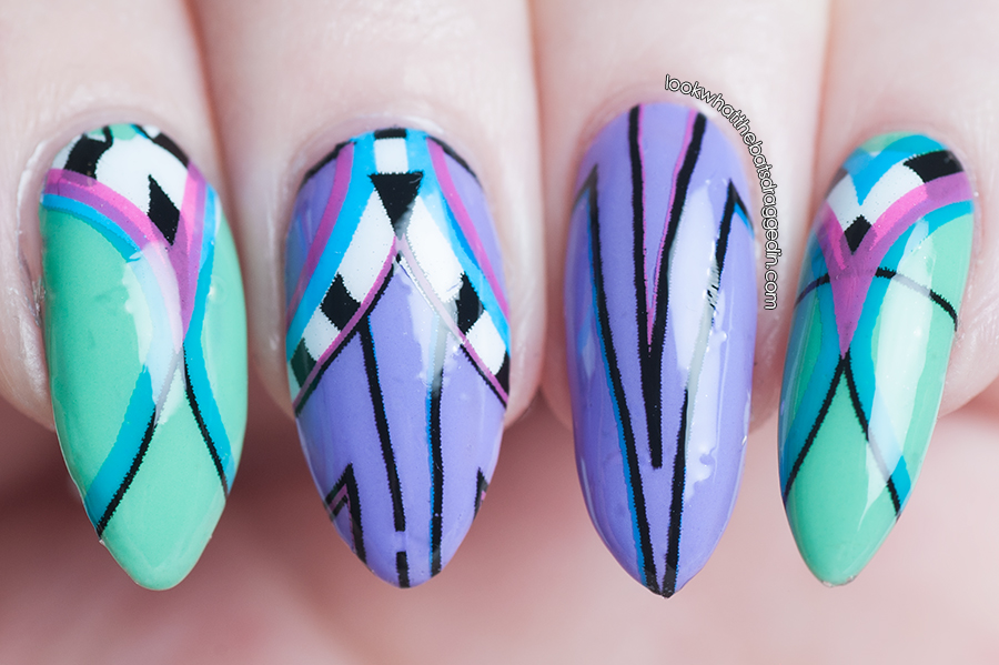 Scratch Nail Wraps review designed by Chelsea King over Illamasqua Nomad and Jo'mina