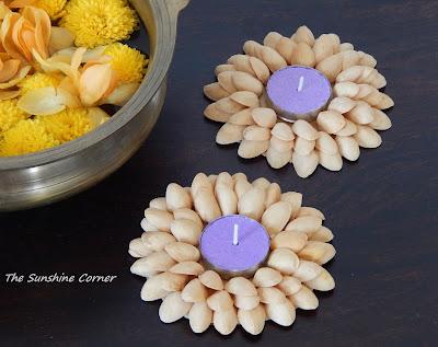 Pistachio Shells Tea Light holder