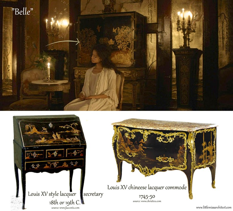 Belle movie set design, belle production design, filming interiors, locations, belle movie furniture