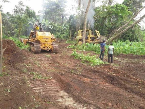 Ekiti state clears land for Airport in Aso Ayegunle Village of Ado Ekiti.