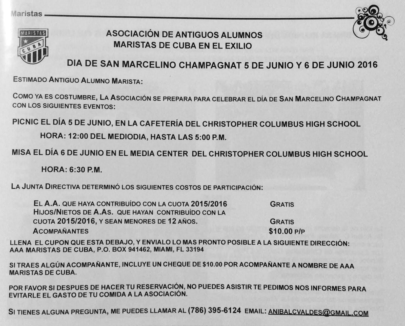 Actividades por el DÍA DE SAN MARCELINO CHAMPAGNAT 2016