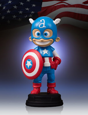 Captain America Mini Marvel Statue by Skottie Young & Gentle Giant