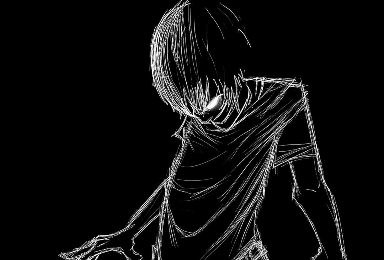 Black And Whitep Anime Wallpapers Hd Background Wallpaper Gallery