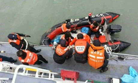 Image At Least 295 Missing as Ferry Sinks off the Coast of South Korea