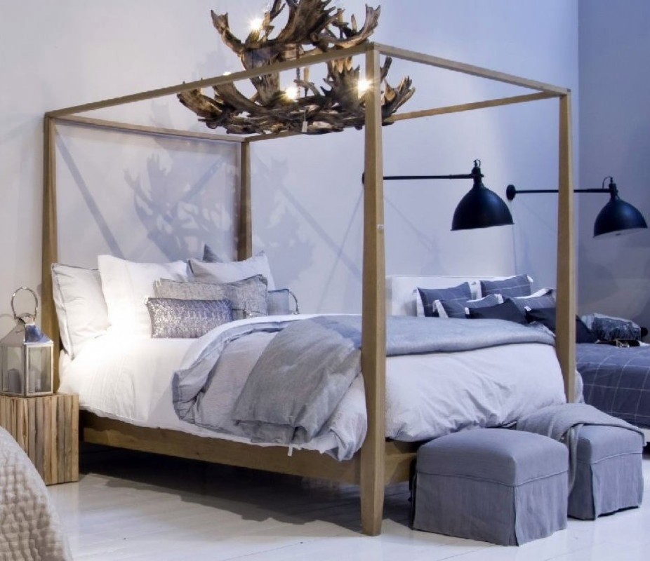 Decotips camas con dosel rom nticas y sofisticadas - Cama dosel madera ...
