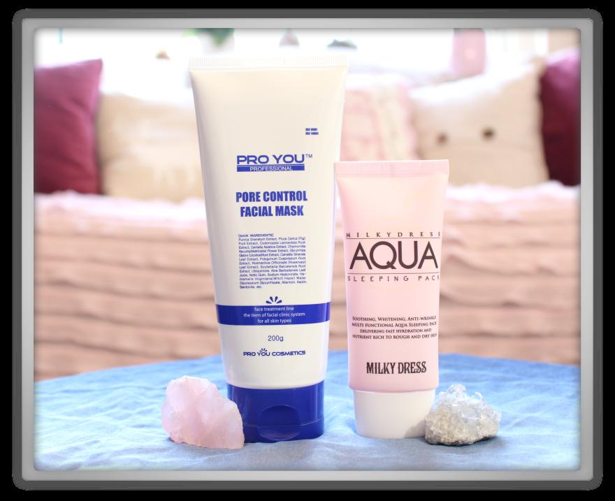 겟잇뷰티박스 by 미미박스 memebox beautybox Special #38 My Mask Box unboxing review pro you pore control milky dress aqua sleeping pack