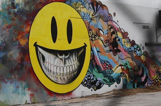 Smiley Face Killer Graffiti