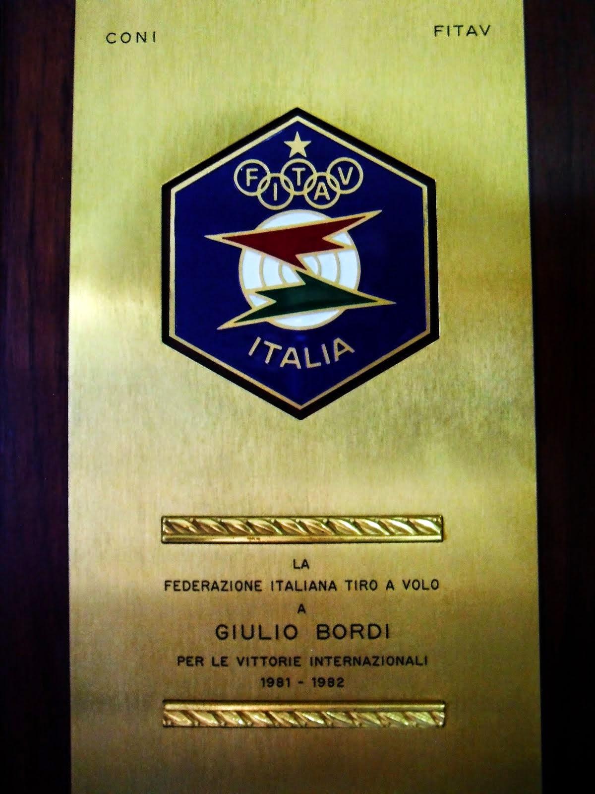 1983 - Targa consegnata a Roma dal Presidente della Repubblica Sandro Pertini.