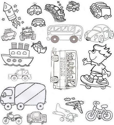 Actividades Escolares Actividades Sobre Medios De Transportes