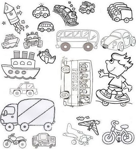 Actividades Para Imprimir De Medios De Transporte Para Preescolar