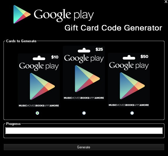 Google Play Gift Card Generator Features