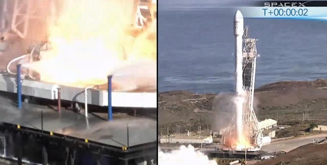 SpaceX Falcon 9 Lifts Off with Canadian Satellite. Credit: SpaceX