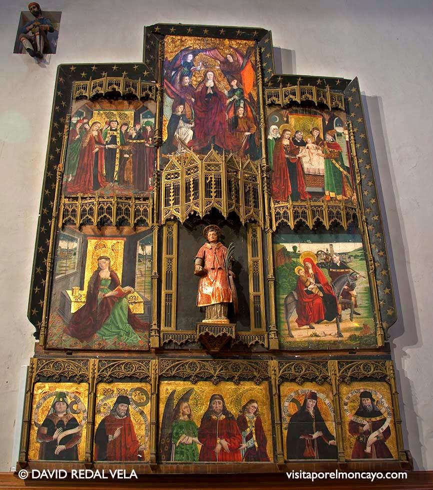Retablo San Vicente Basílica de la Virgen de los Milagros de Agreda