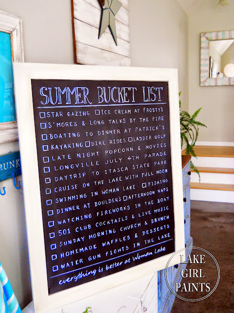 Chalkboard Summer Bucket List