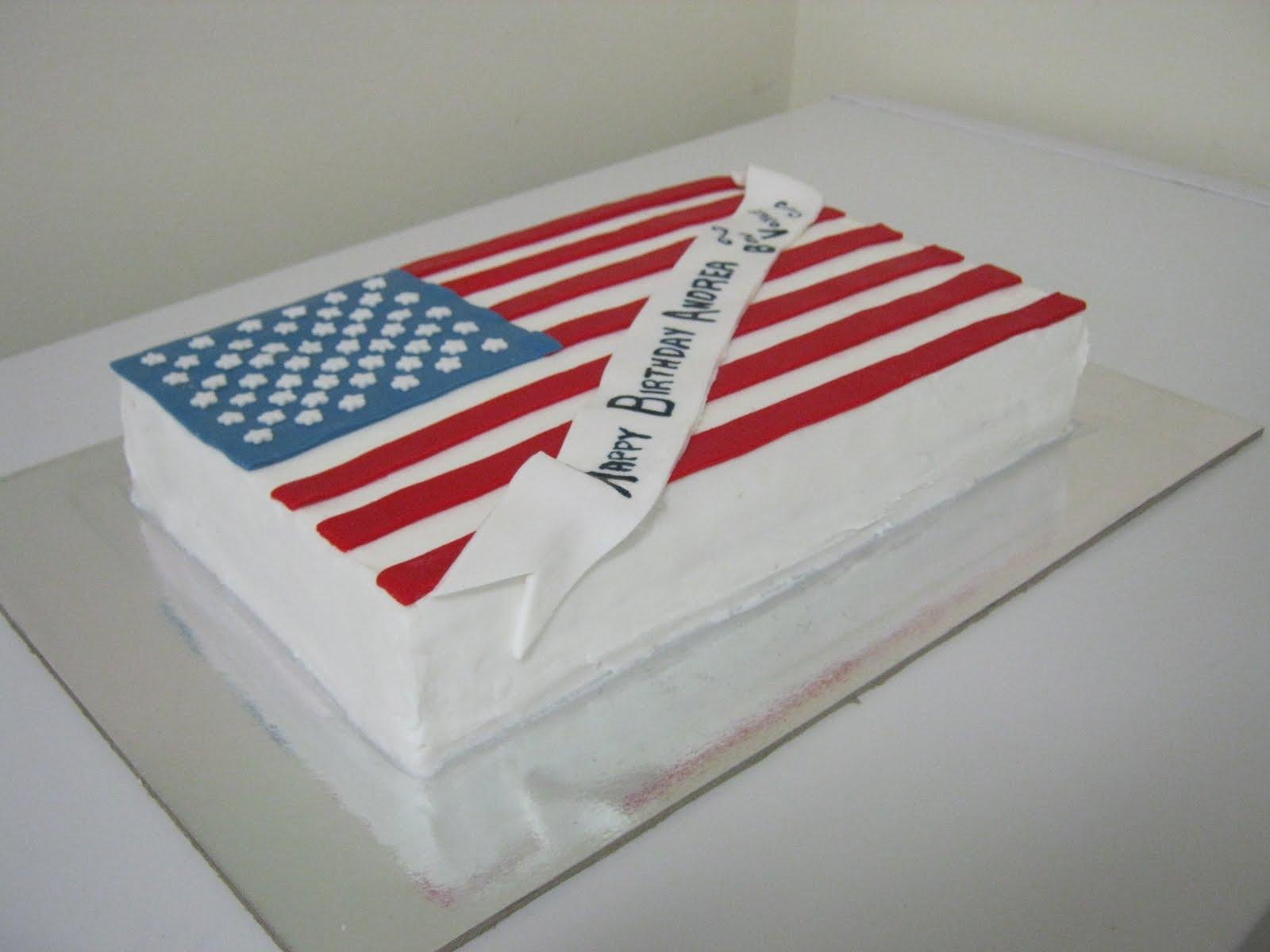 Driftwood Cakes - Cake Baker and Decorator: American Flag Cake