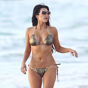 Kim Kardashian on The Beach