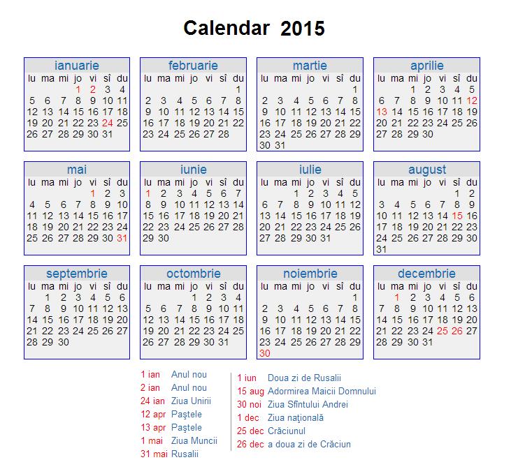 Calendar 2015 Saptamani | New Calendar Template Site