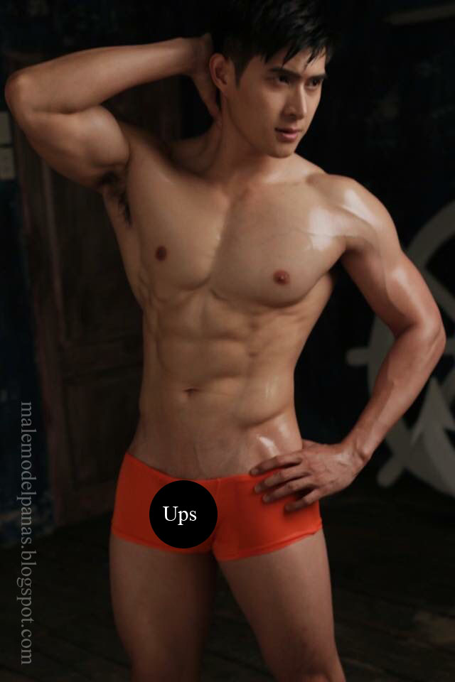 sexy thailand male model with underwear tu jirat