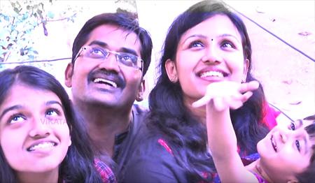 Actor Karunakaran with his family | Best comedian award