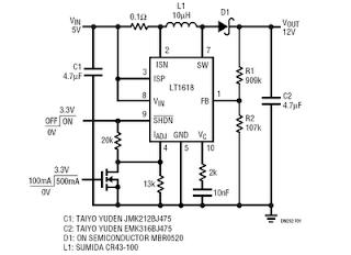 USB Voltage Converter 5V to 12V