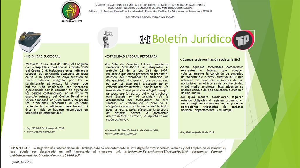 Cuarto Boletín Jurídico