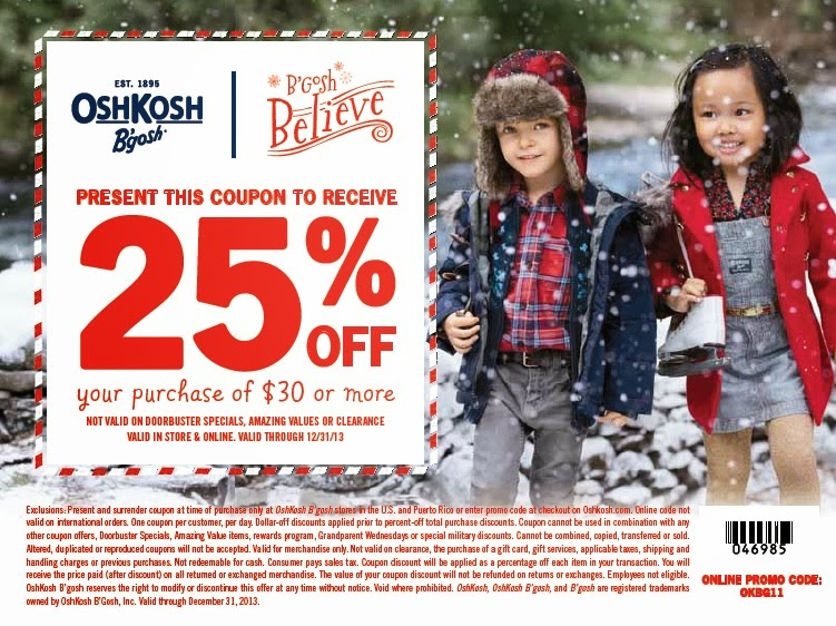 OshKosh B'gosh coupon