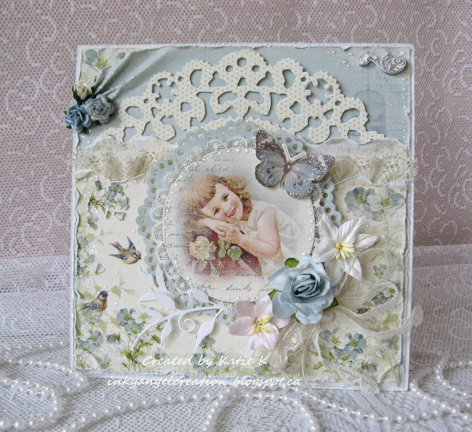 Inky Angel Mothers Day Card Flowers at The Ribbon Girl