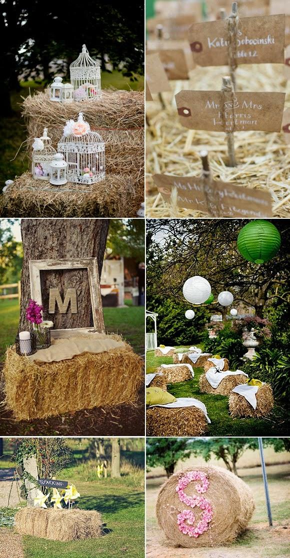Decoracion Rustica Para Fiestas ~   de madera puedes usar la paja para se?alizar o crear bonitos rincones
