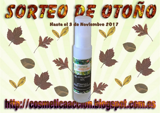 Sorteo otoño Gel Hyaluronic de Farmacia Viéitez López