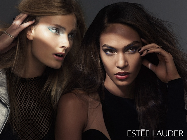 Estee Lauder 2015 Campaign featuring Joan Smalls and Constance Jablonski