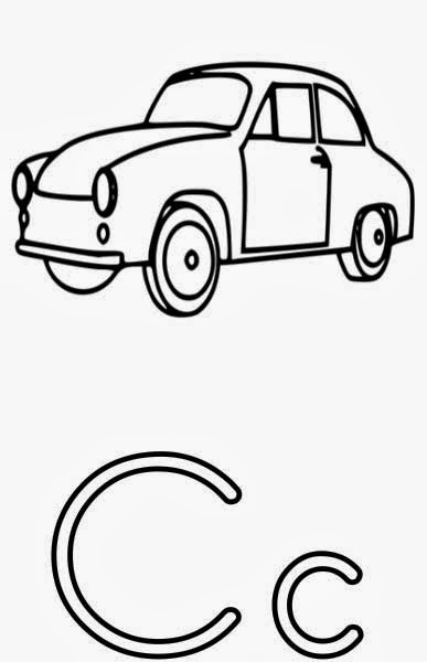 Printable Alphabet Coloring Pages Car