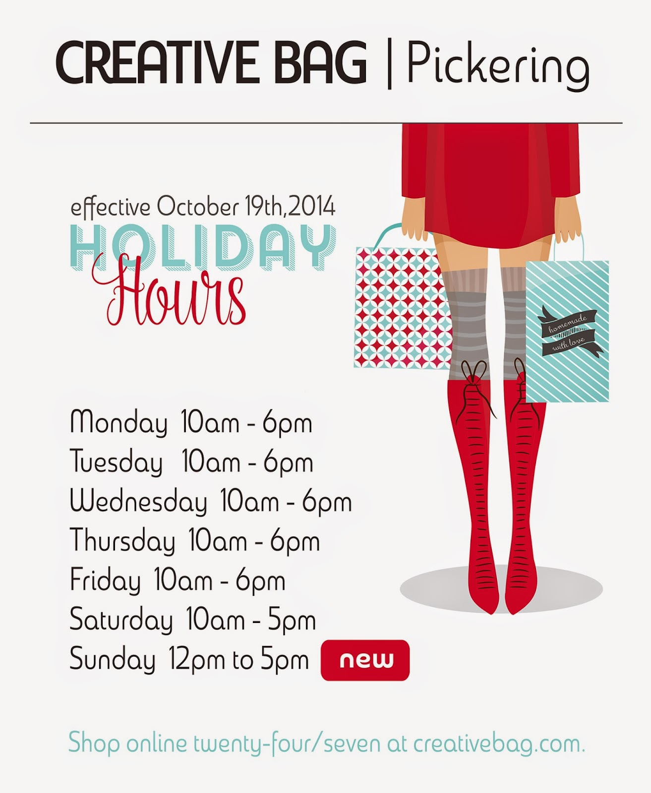 Creative Bag's Pickering store starts holiday hours in October