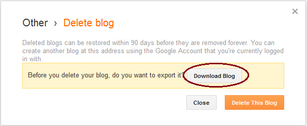 delete blog,how to delete blogger blog,deleted blog