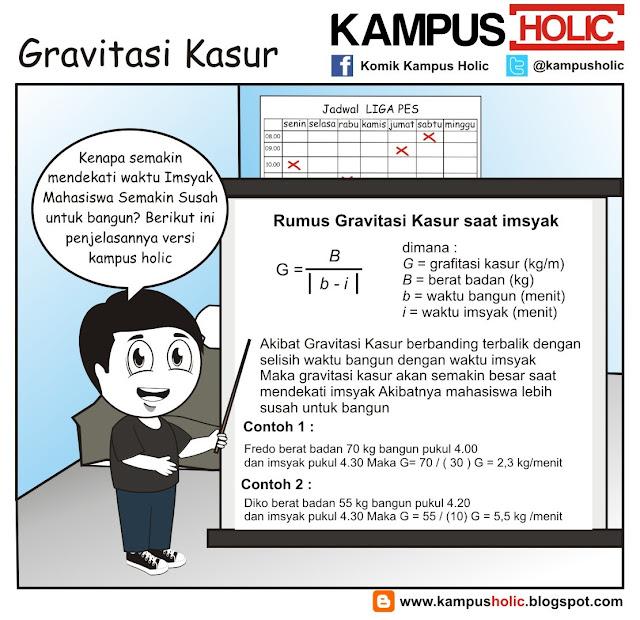 #216 Gravitasi Kasur, ala komik kampus holic