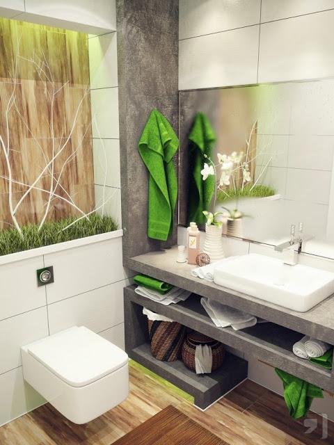 ديكور حمامات 2013 - تصميم ديكورات حمامات صغيرة 2013