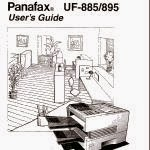 PANAFAX UF 885 MANUAL